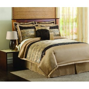 Lush Decor Safari Animal Print 8-Piece Comforter Set King